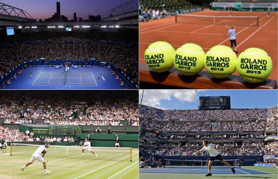 スラム テニス グランド テニスの四大大会って何?コートが違う?各大会の特徴を解説!